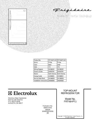 Diagram for FRT18HP7JW1