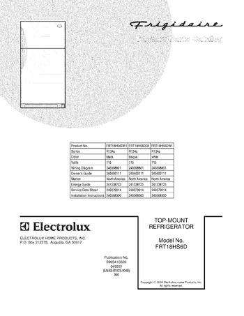 Diagram for FRT18HS6DW1