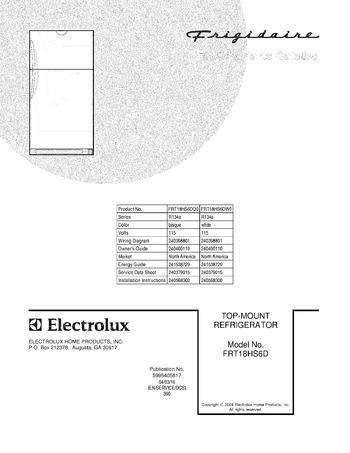 Diagram for FRT18HS6DW0