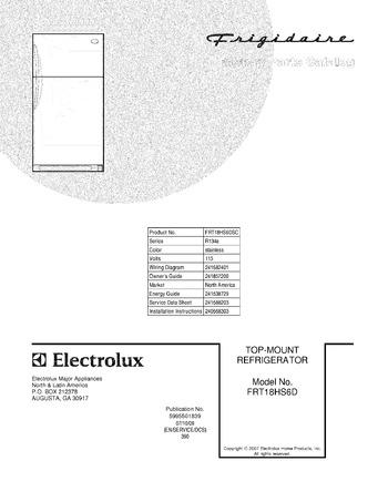 Diagram for FRT18HS6DSC