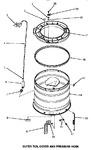 Diagram for 14 - Outer Tub, Cover & Pressure Hose