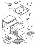 Diagram for 05 - Main Top And Oven Assy