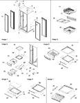 Diagram for 10 - Hinges, & Refrigerator Shelving