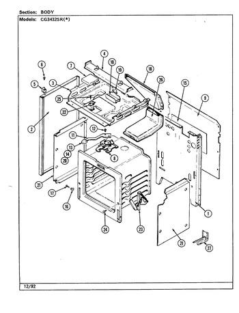 Diagram for CG3432SRW