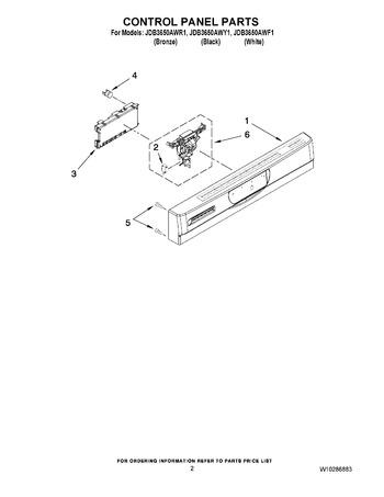 Diagram for JDB3650AWY1