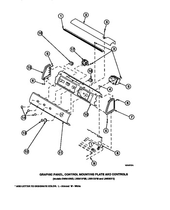 Diagram for LW8203W2 (BOM: PLW8203W2 A)