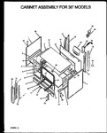 Diagram for 03 - Cabinet Assy For 36`` Models