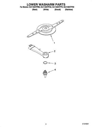 Diagram for DU1100XTPS9