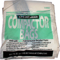 "GE 12 Pack of WC60X5017 - 15"" Plastic Trash Compactor Bags"
