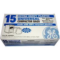 "GE 15 Pack - 15"" Plastic Trash Compactor Bags"