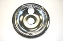 "GE Range / Oven / Stove 8"" Chrome Drip Bowl with Attached Ring"