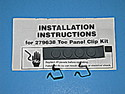 Maytag Dryer Panel Clip